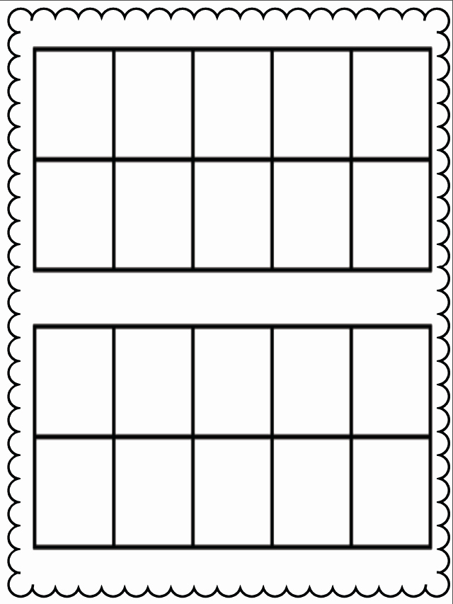 Ten Frames Worksheets Inspirational 15 Best Of Free 10 Frame Worksheets Mini Ten