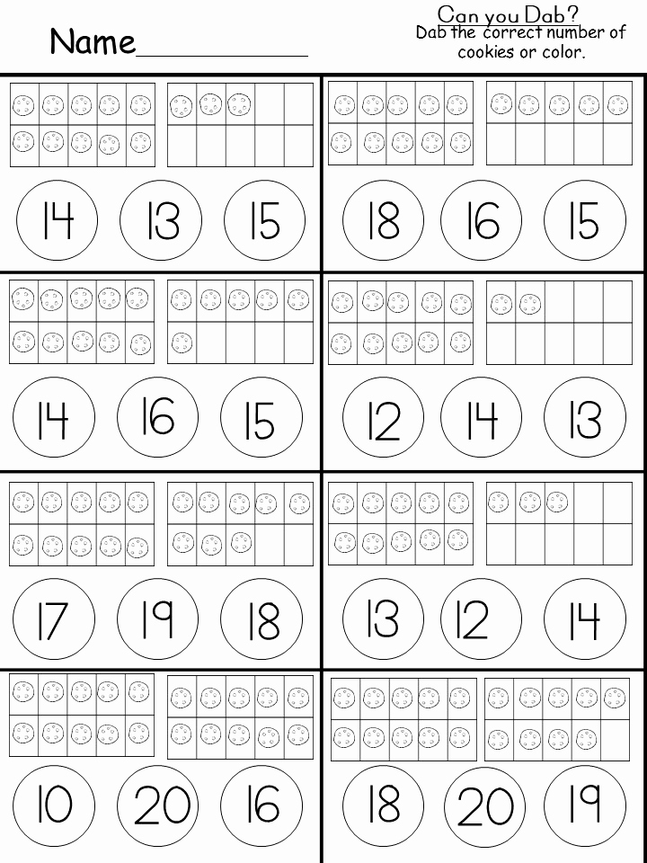 Ten Frames Worksheets Lovely Free Tens and Es Printable Kindermomma