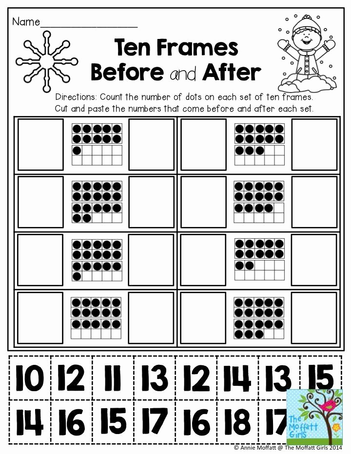 Ten Frames Worksheets New Ten Frame Worksheets for Kindergarten January Learning