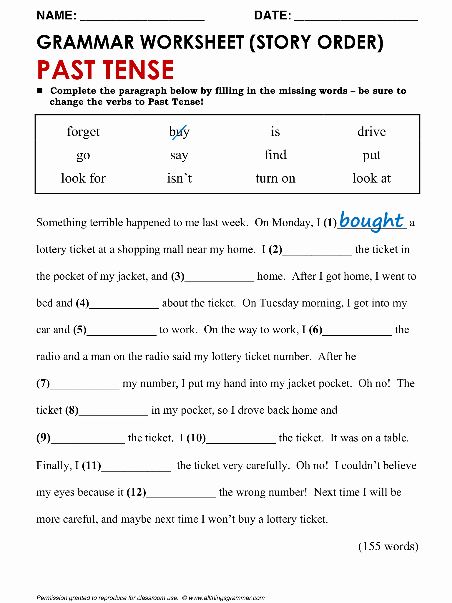Tenses Worksheets for Grade 6 Beautiful Tenses Worksheet for Grade 6