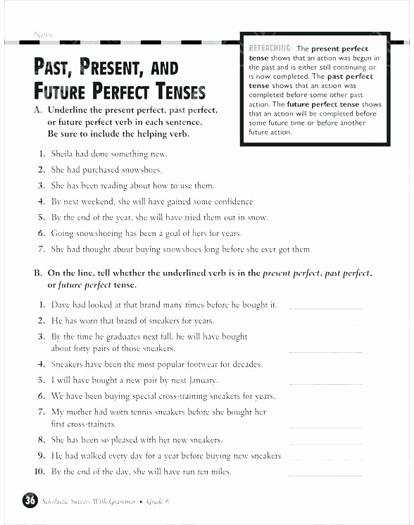 Tenses Worksheets for Grade 6 Fresh Tenses Worksheets for Grade 6 Present Progressive