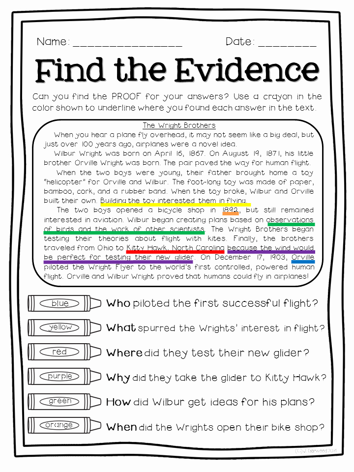 Text Evidence Worksheets 3rd Grade Luxury Free Sampler Of Super Text Detectives Find the Text