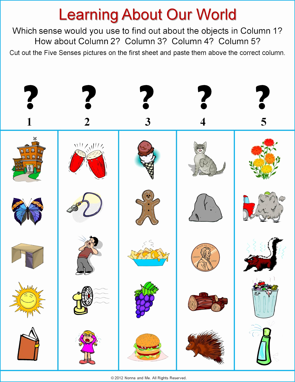 The Five Senses Worksheets Inspirational Nonna and Me the Five Senses Learning About Our World