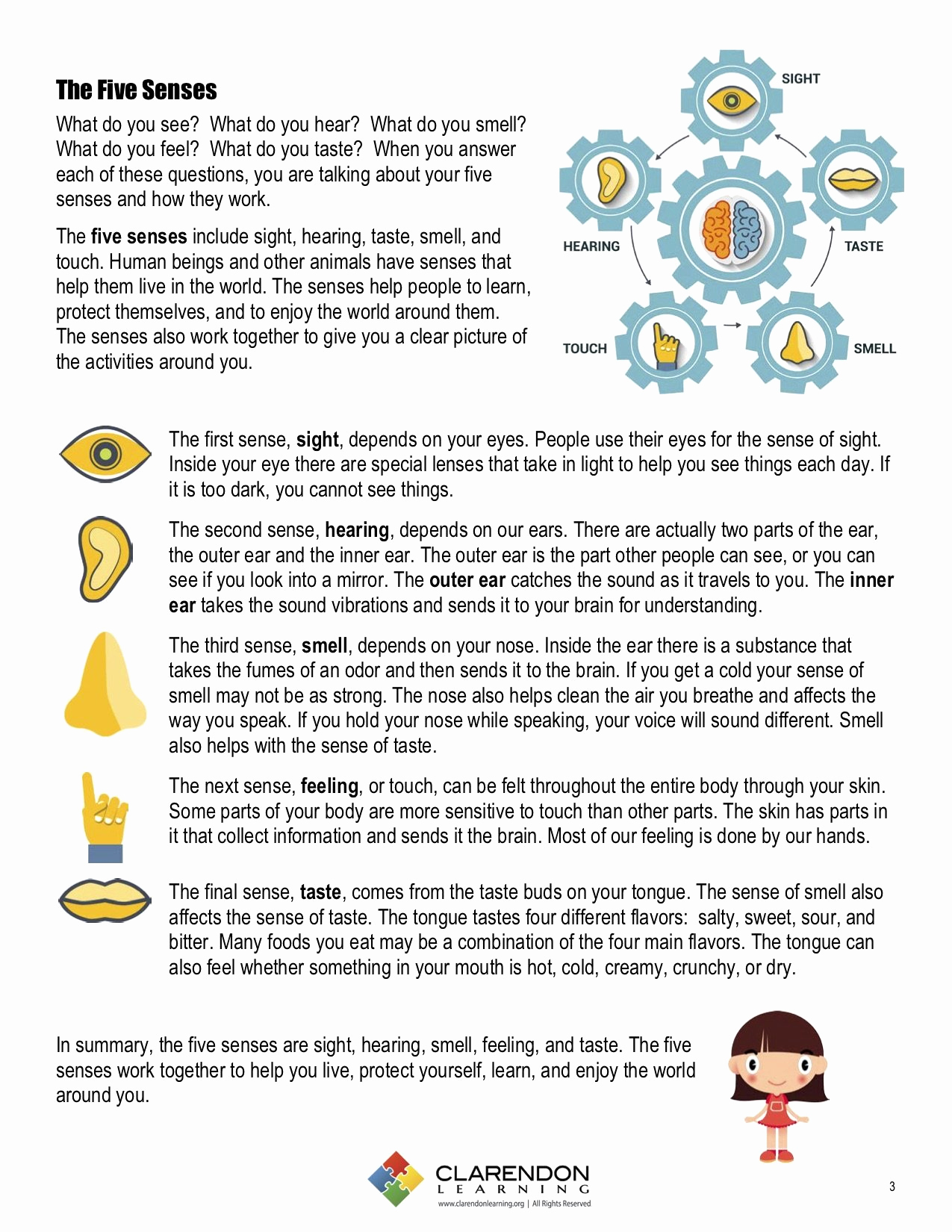 The Five Senses Worksheets New Five Senses Lesson Plan