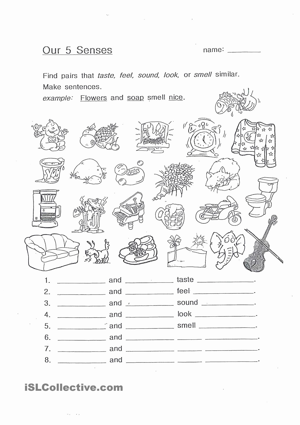 The Five Senses Worksheets Unique Our 5 Senses the Five Senses Pinterest