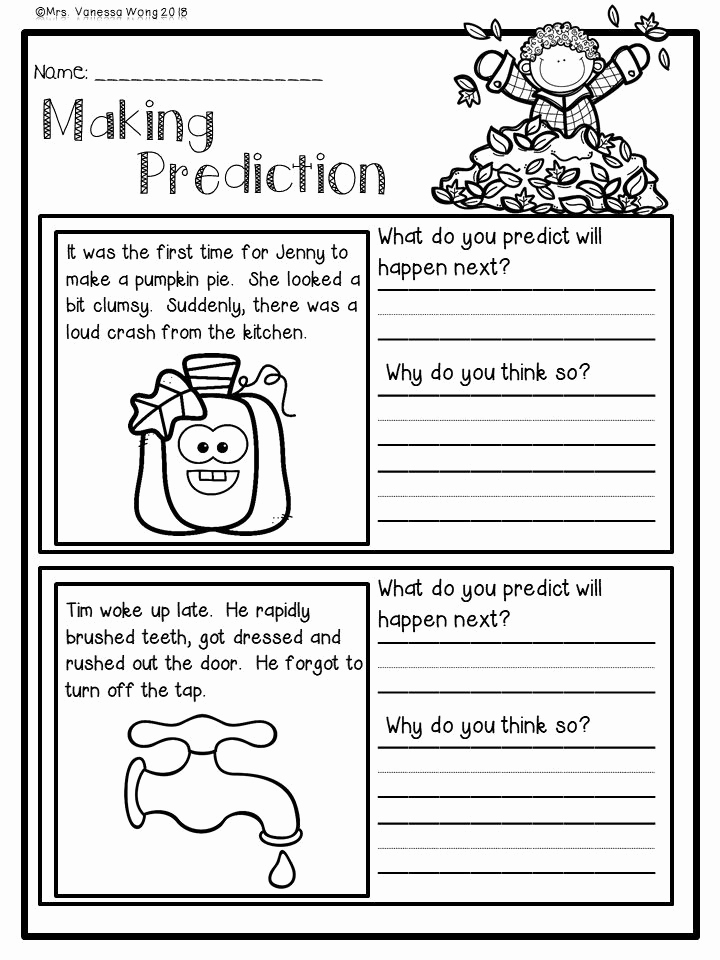 Theme Worksheets 2nd Grade Best Of Fall Activities for Second Grade Math and Literacy No Prep