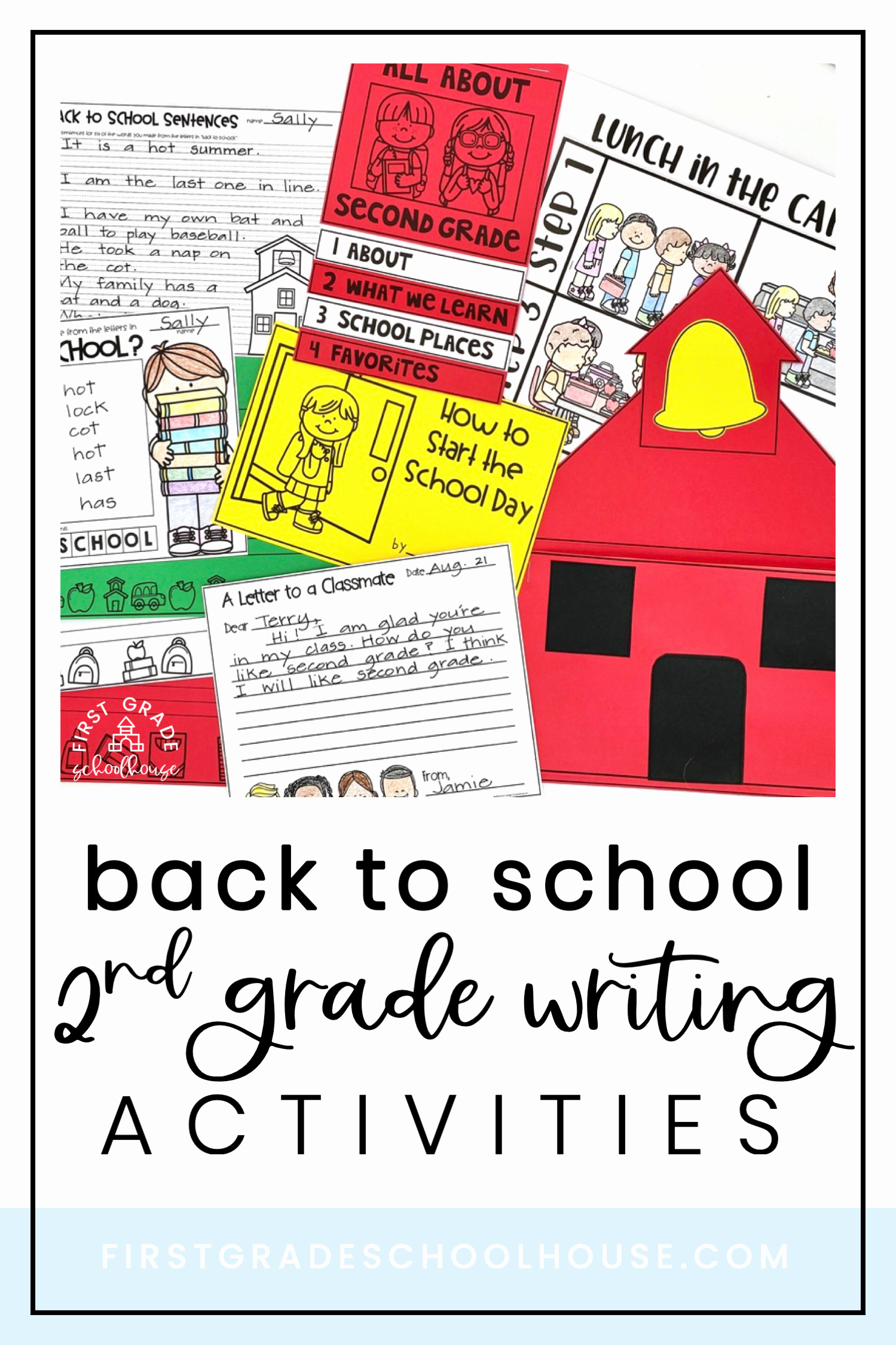 Theme Worksheets 2nd Grade Inspirational Back to School Writing Second Grade In 2020