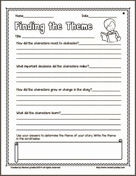 Theme Worksheets 2nd Grade Lovely Fable Graphic organizer 2nd Grade Ideas for Teaching
