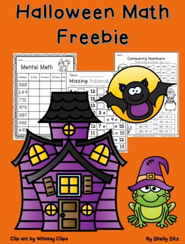 Theme Worksheets 2nd Grade Lovely Halloween Worksheets for 2nd Grade Math Teach Junkie