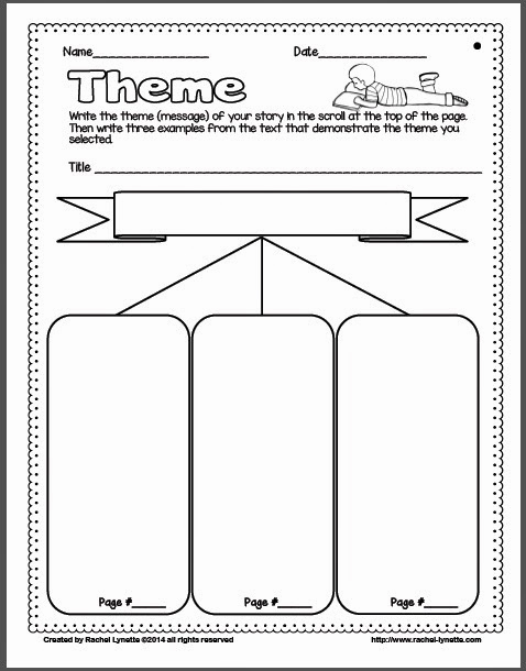 Theme Worksheets 2nd Grade Lovely Ideas for Teaching theme and A Couple Freebies Minds