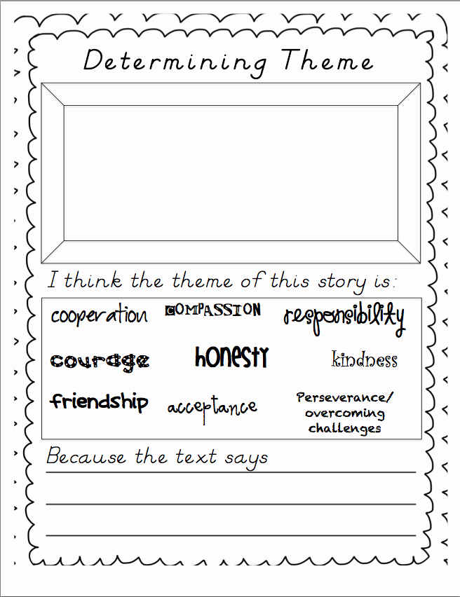 Theme Worksheets 2nd Grade Lovely Miss Stith S Second Grade Determining theme In Literature