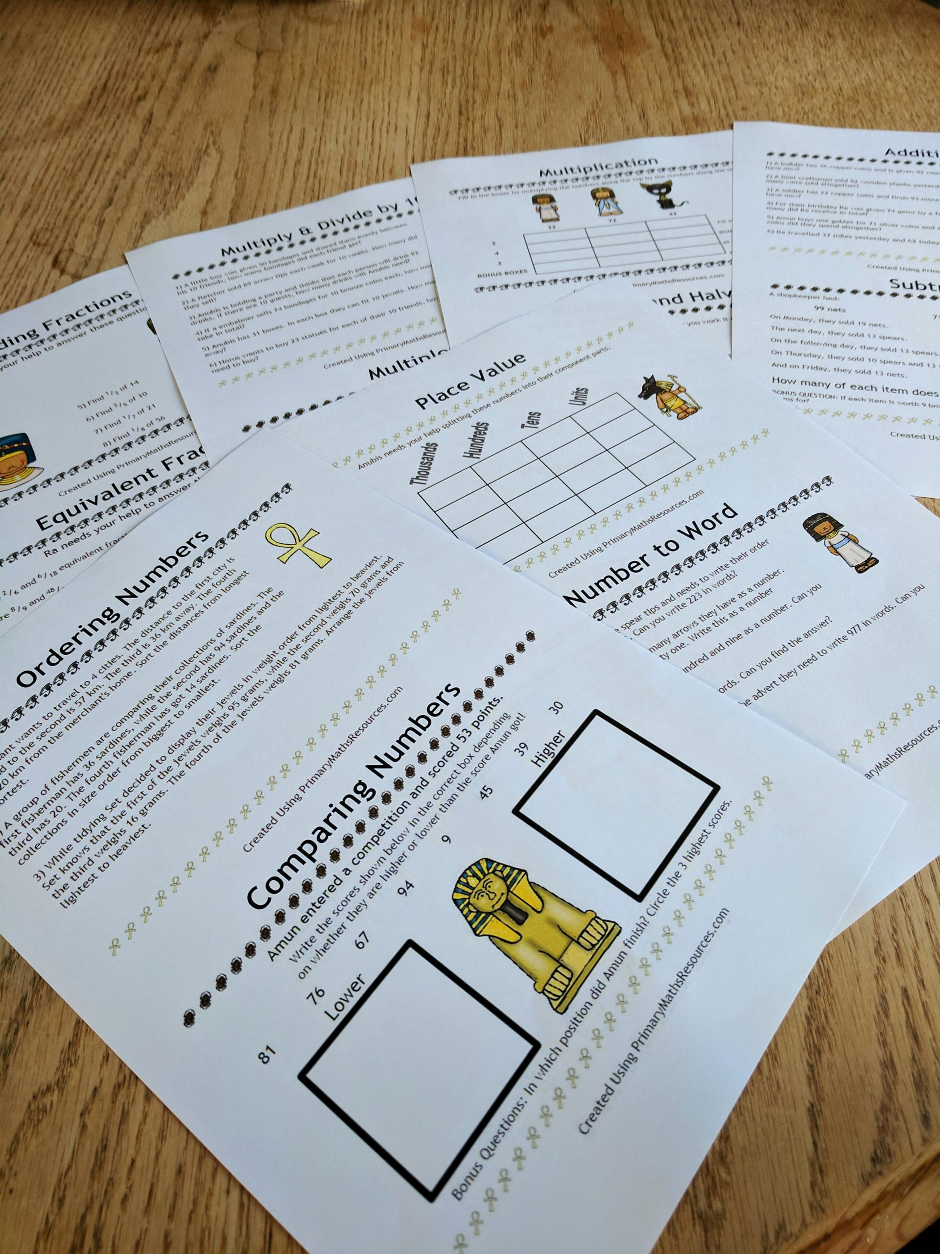 Theme Worksheets 2nd Grade Luxury Ancient Egyptian themed Maths Worksheets 2nd Grade
