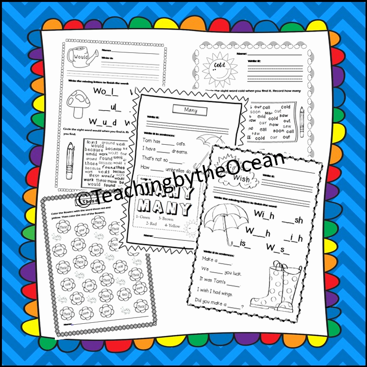 Theme Worksheets 2nd Grade Luxury Second Grade Sight Words Worksheets Spring themed