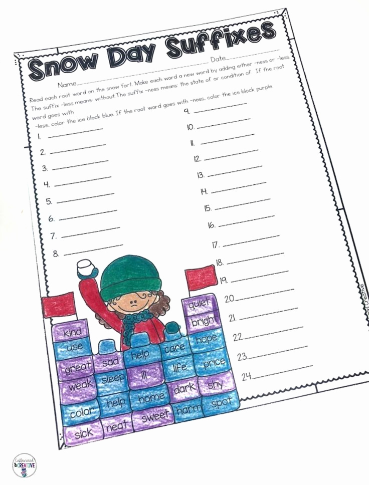 Theme Worksheets 2nd Grade New Winter Literacy and Math No Prep Second Grade