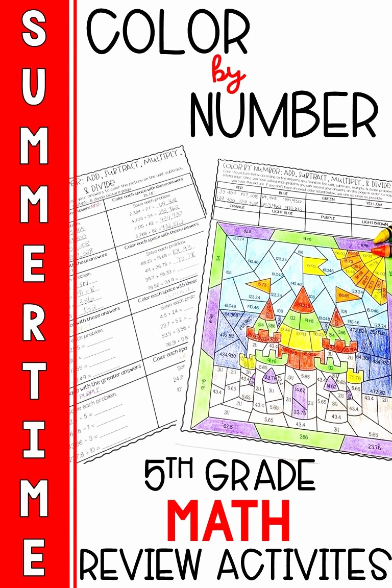 Theme Worksheets 5th Grade Best Of End Of the Year 5th Grade Math Review Activities In 2020