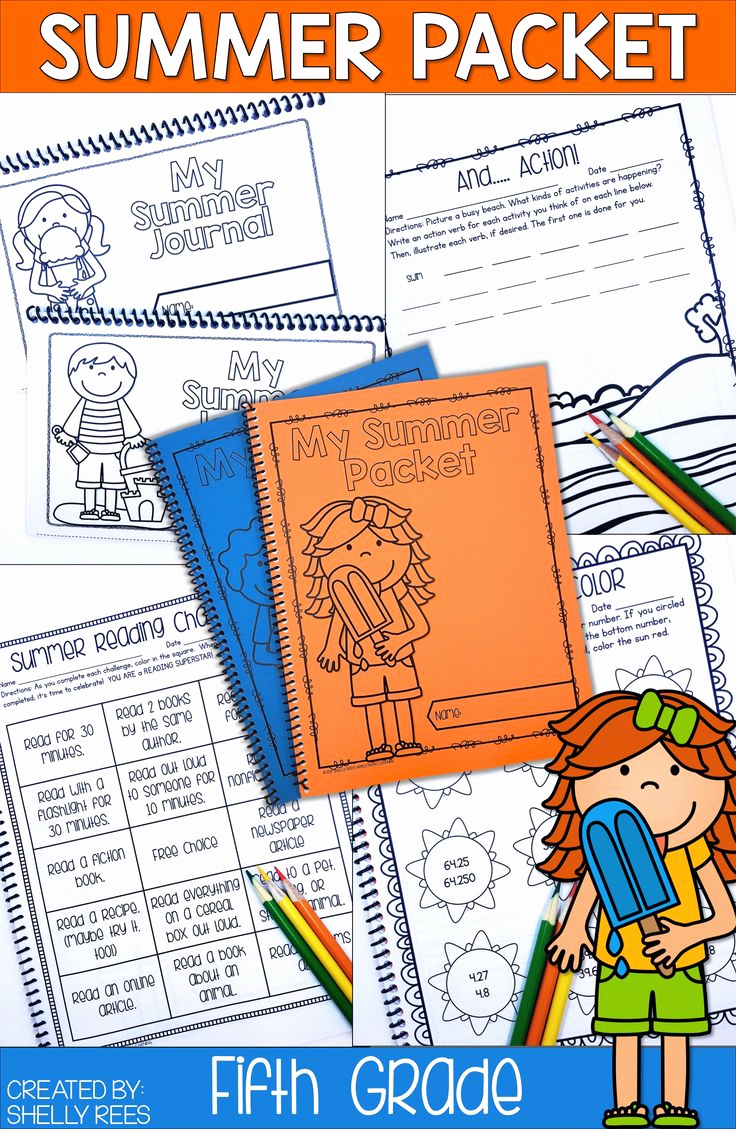 Theme Worksheets 5th Grade Inspirational Summer Packet Fifth Grade