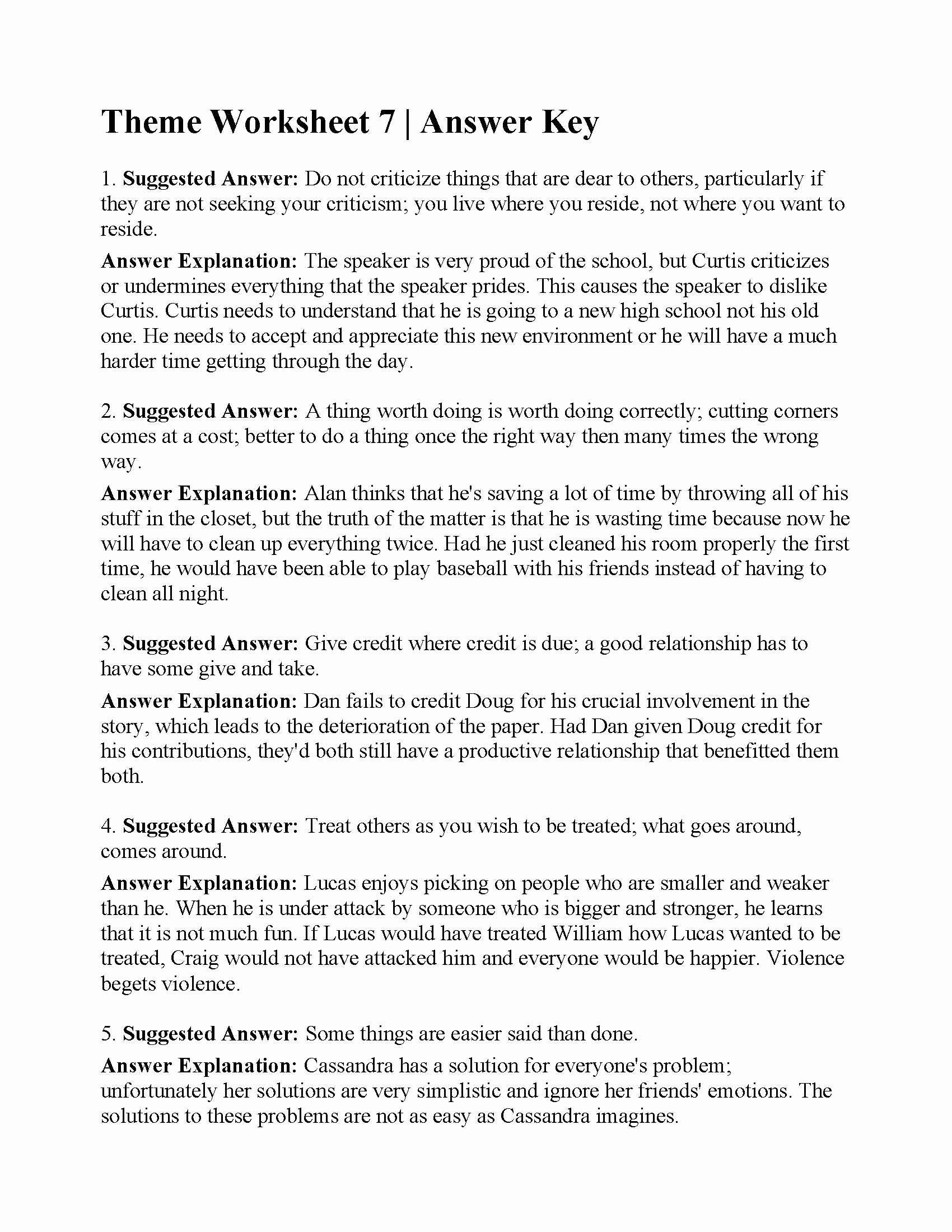 Theme Worksheets 5th Grade Luxury 20 5th Grade theme Worksheets