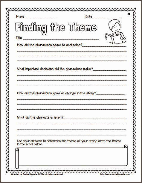 Theme Worksheets 5th Grade Luxury theme Worksheets