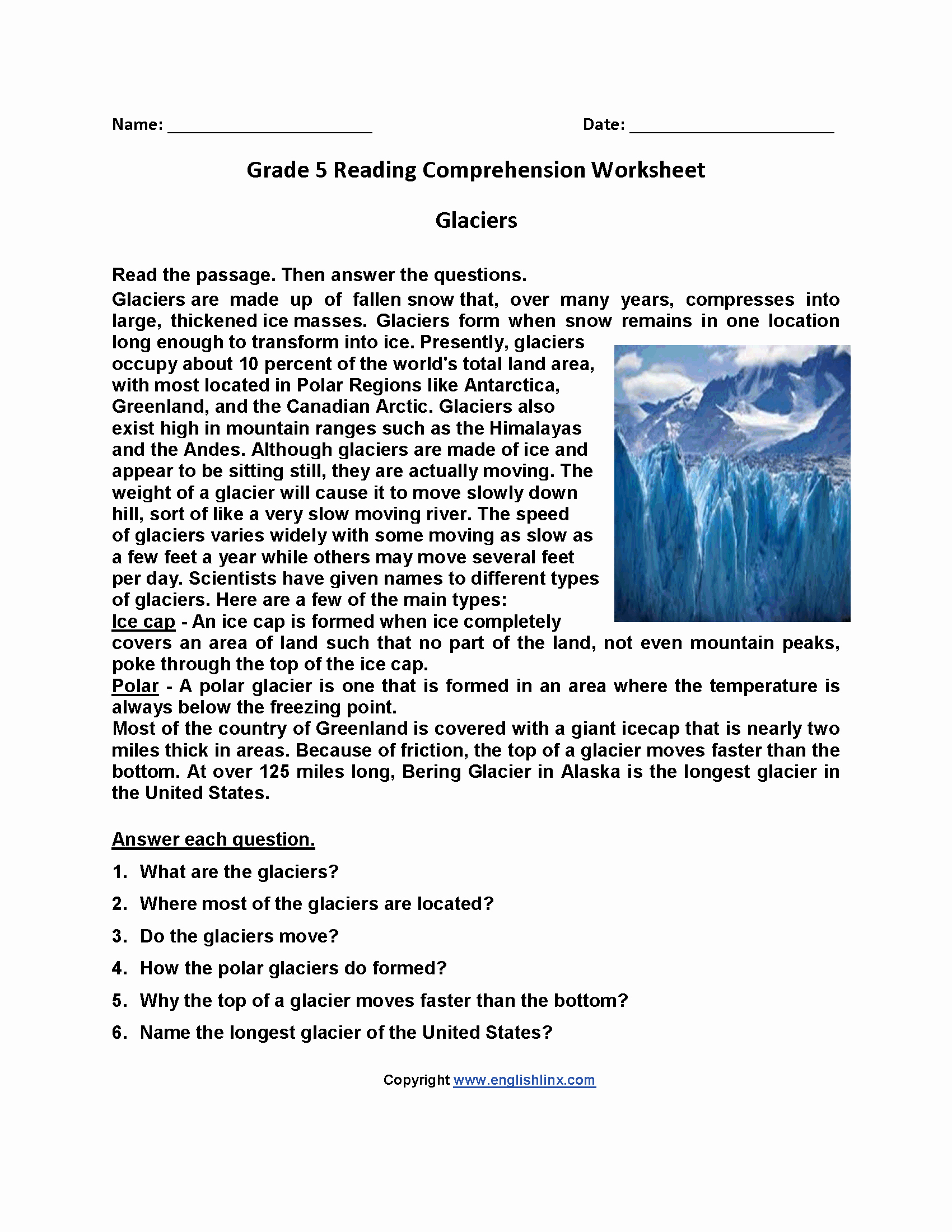 Theme Worksheets 5th Grade New 5th Grade Worksheets Reading