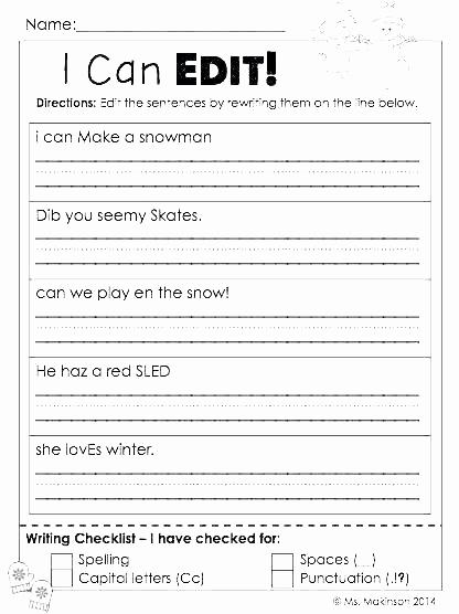 Third Grade Editing Worksheets Inspirational 25 Third Grade Editing Worksheets