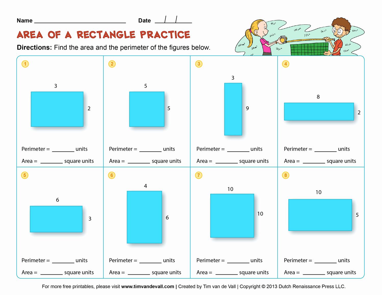Third Grade Perimeter Worksheets Fresh area and Perimeter Worksheets – Third Grade Math Worksheets