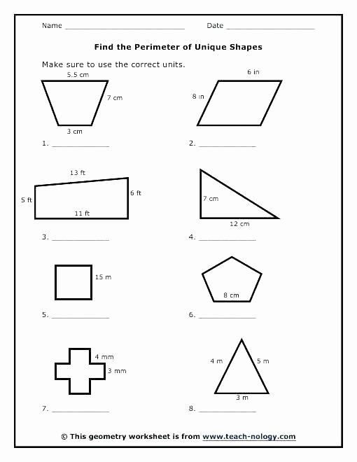 Third Grade Perimeter Worksheets Inspirational Perimeter Worksheets 3rd Grade