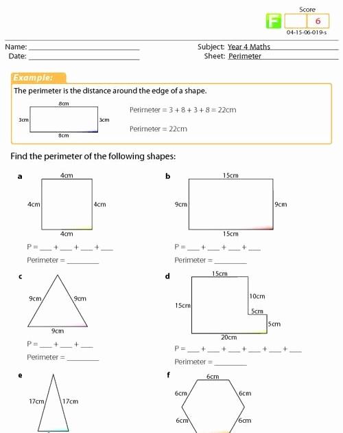 Third Grade Perimeter Worksheets Luxury Teach Child How to Read Perimeter Worksheet 3rd Grade