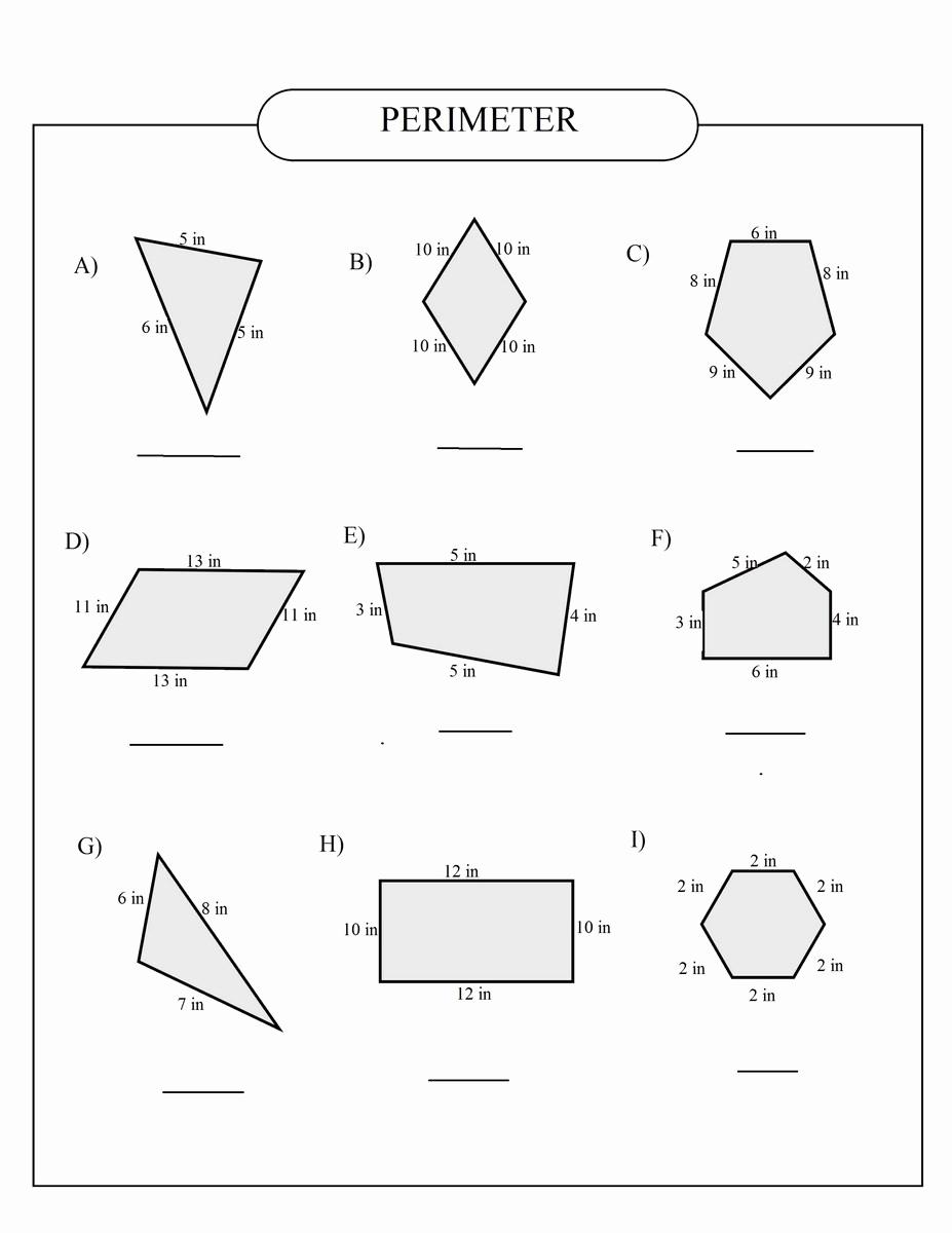 Third Grade Perimeter Worksheets New Perimeter Worksheets 3rd Grade
