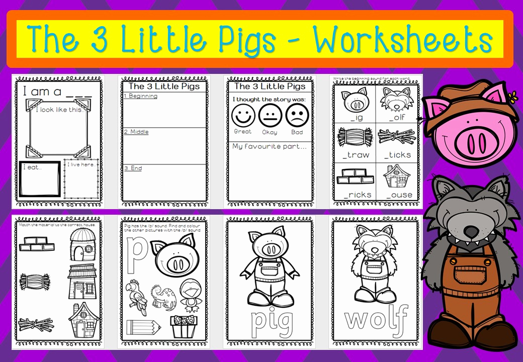 Three Little Pigs Worksheets Awesome the Three Little Pigs Worksheets – Mash