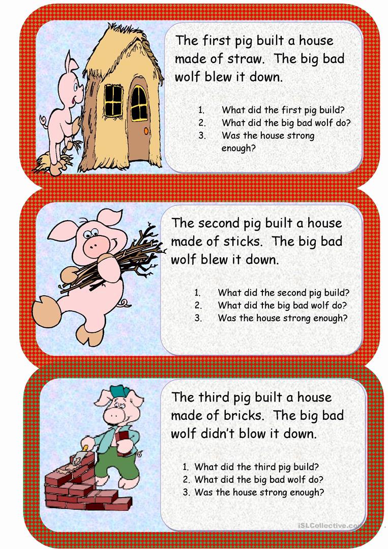 Three Little Pigs Worksheets Elegant the Three Little Pigs Worksheet Free Esl Printable