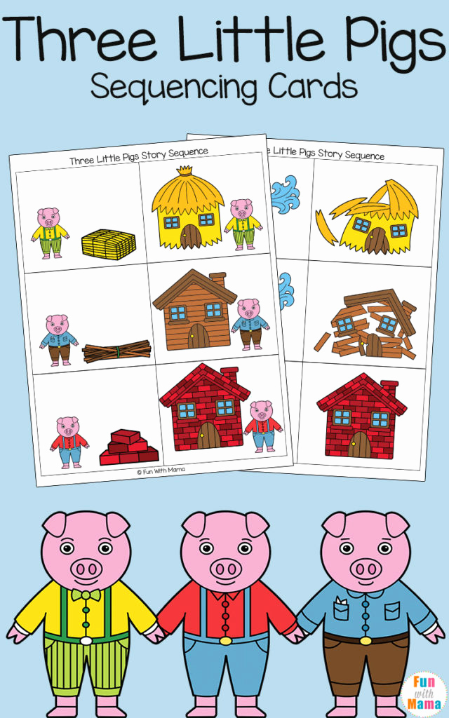 Three Little Pigs Worksheets Fresh Sequencing Cards From the Three Little Pigs