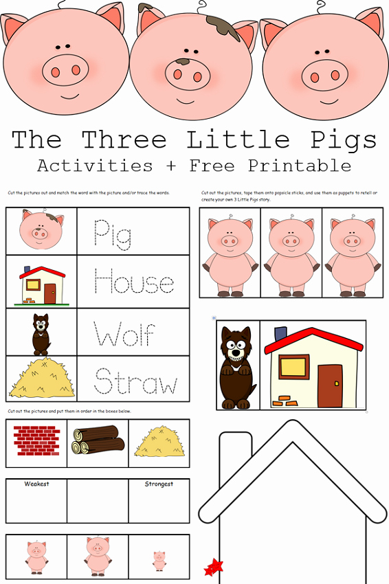 Three Little Pigs Worksheets Fresh the Three Little Pigs Worksheets