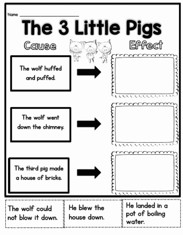 Three Little Pigs Worksheets Lovely Pig Worksheets First Grade