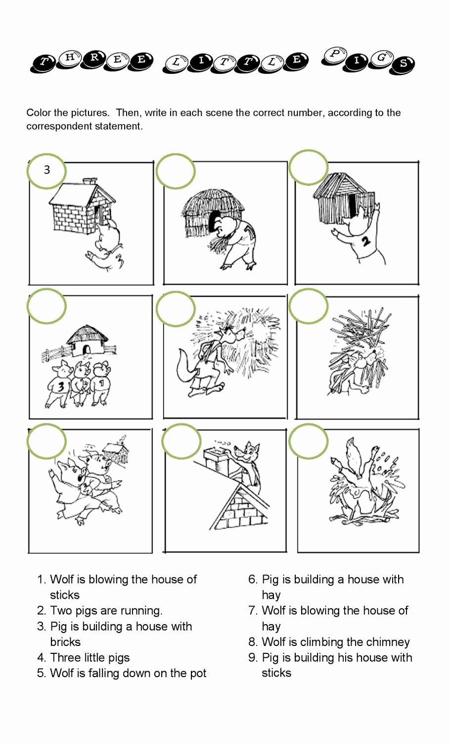 Three Little Pigs Worksheets Lovely the Three Little Pigs Worksheets