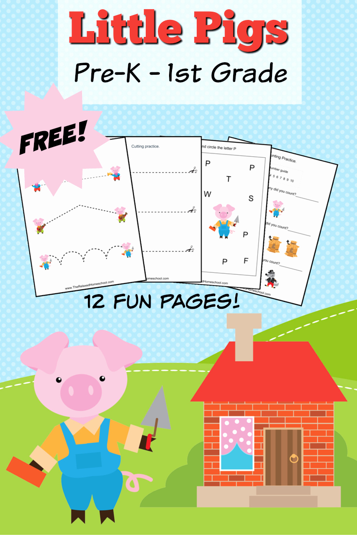 Three Little Pigs Worksheets Luxury Free Three Little Pigs theme Pack the Relaxed Homeschool