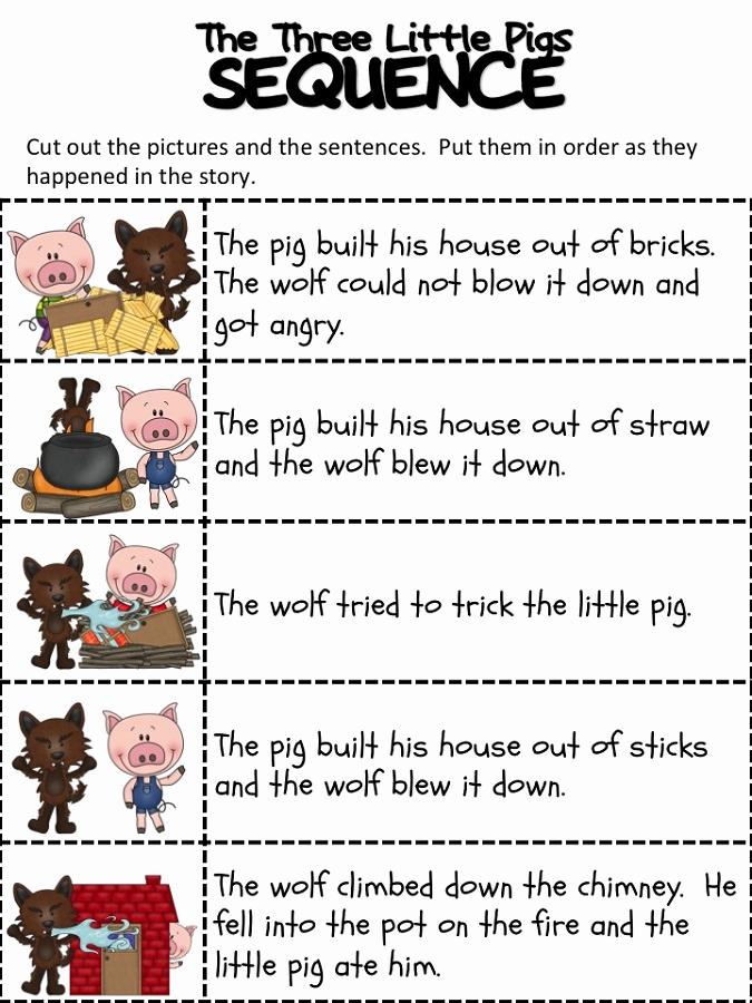 Three Little Pigs Worksheets Luxury the Three Little Pigs Worksheets
