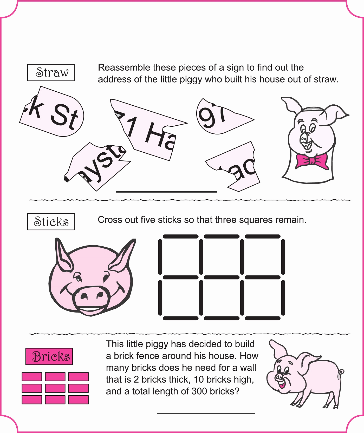 Three Little Pigs Worksheets Luxury Three Little Pigs Worksheets Activity
