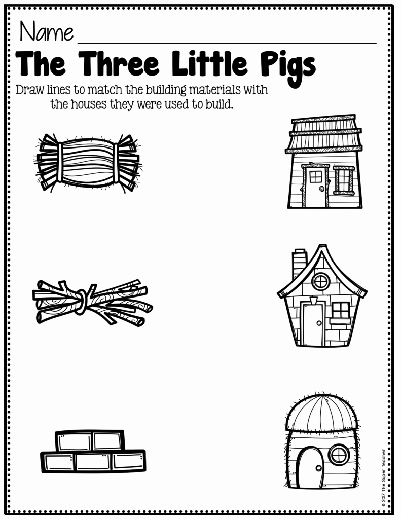 Three Little Pigs Worksheets Unique Story Elements Made Practical and Fun with Familiar Characters