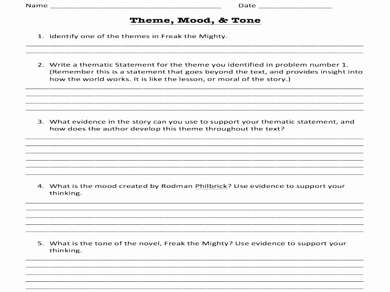 Tone and Mood Worksheet Pdf Best Of 25 tone and Mood Worksheet Pdf