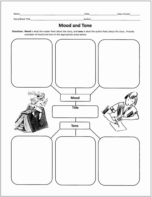 Tone and Mood Worksheet Pdf Unique tone and Mood Worksheets
