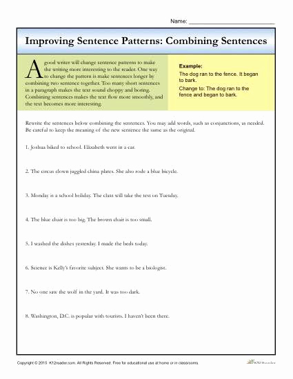 Topic Sentence Worksheets 5th Grade Unique 20 topic Sentence Worksheets 5th Grade
