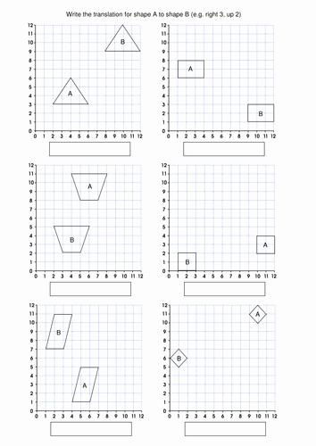 Translation Math Worksheets Unique Translation Worksheet
