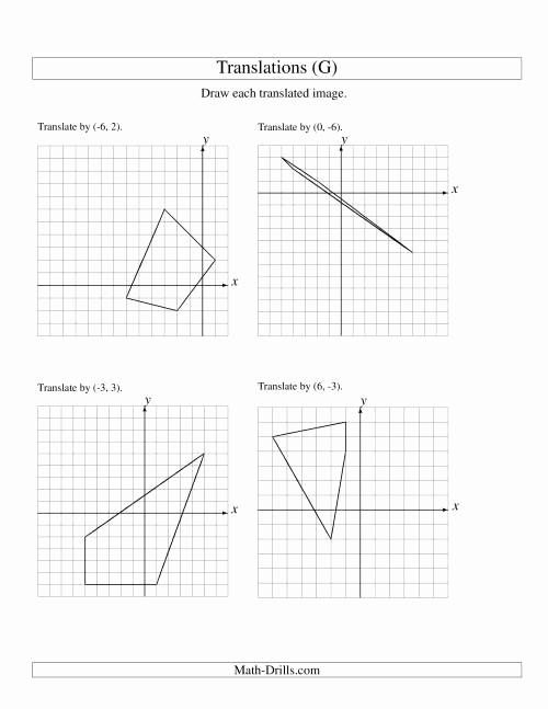 Translation Worksheets Math Best Of Translation Of 4 Vertices Up to 6 Units G