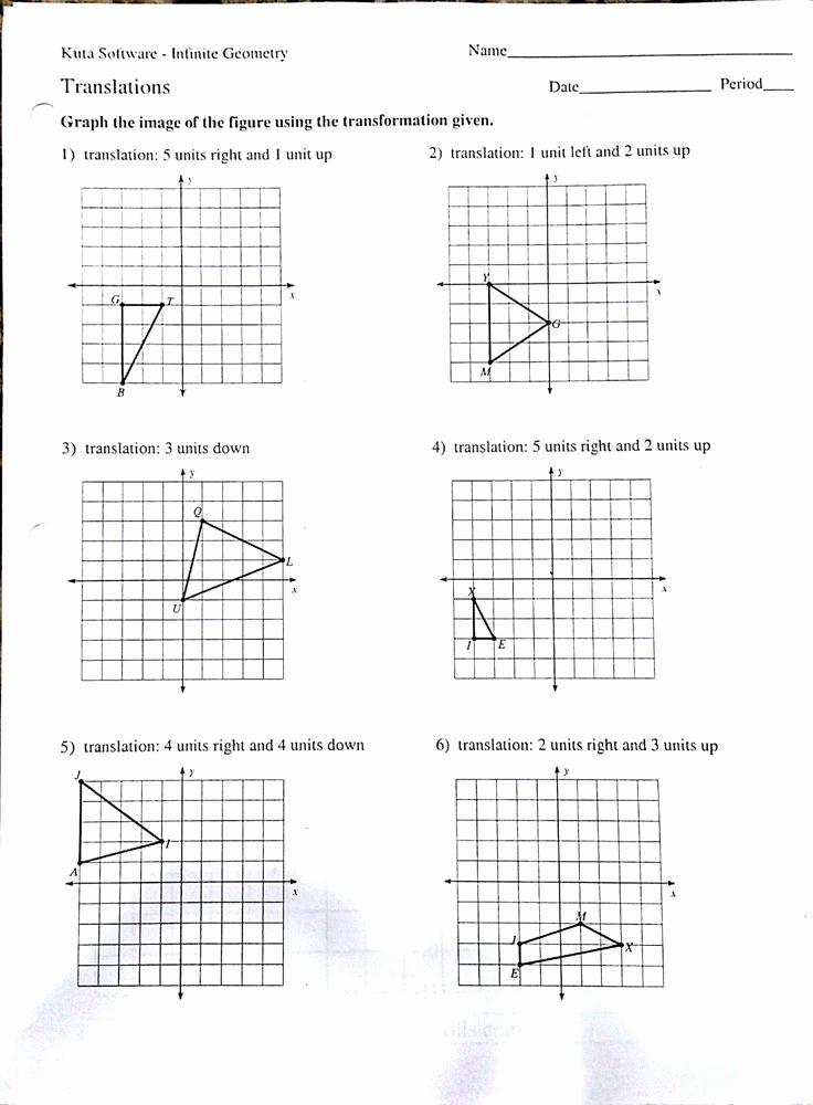 Translation Worksheets Math Inspirational Translation Math Worksheet Pdf Math Translation Worksheets