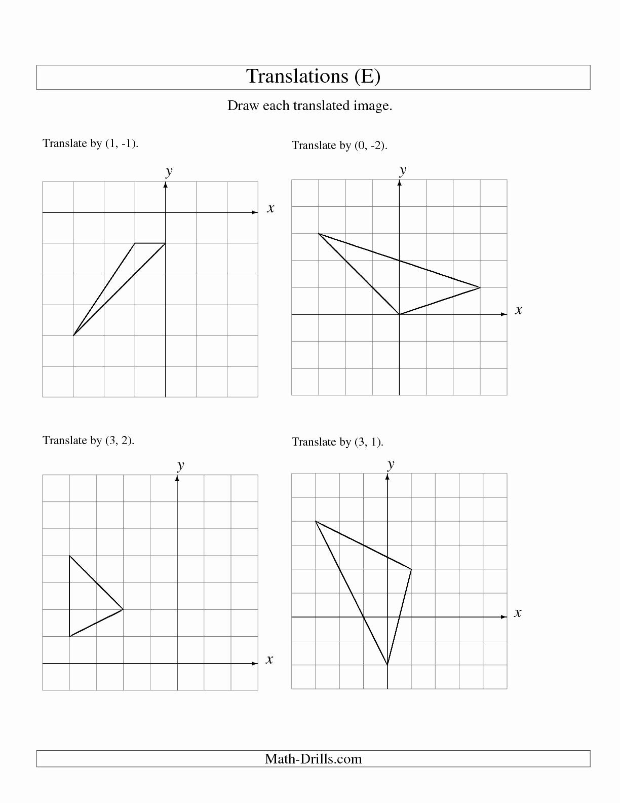 Translation Worksheets Math New 15 Best Of Translation Transformation Worksheet