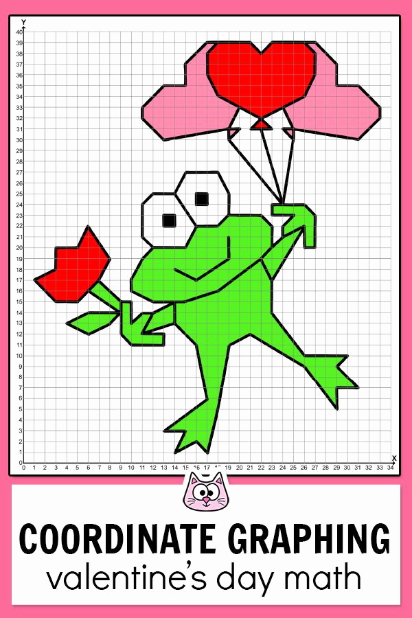 Valentine Day Coordinate Graphing Worksheets Beautiful Practice Plotting ordered Pairs with these Fun and