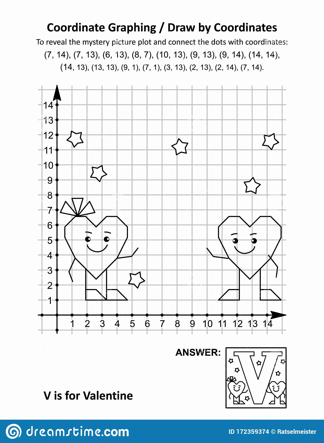 Valentine Day Coordinate Graphing Worksheets Elegant Coordinate Graphing Draw by Coordinates Math