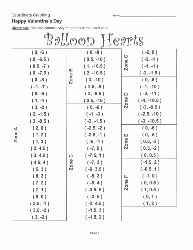 Valentine Day Coordinate Graphing Worksheets Inspirational Valentines Day Coordinate Plane Pictures Bundle