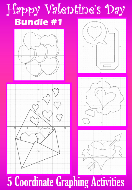 Valentine Day Coordinate Graphing Worksheets Lovely Valentine S Day Bundle 1 5 Coordinate Graphing