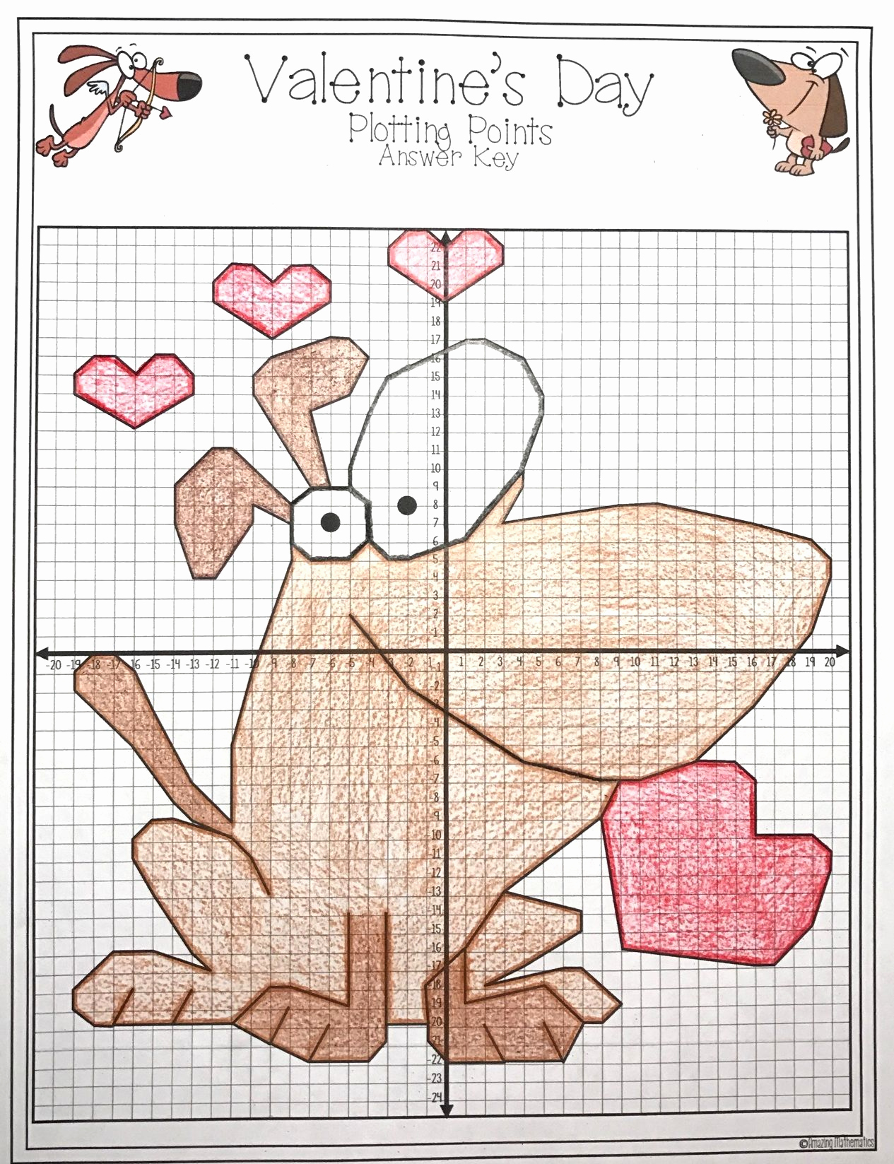 Valentine Day Coordinate Graphing Worksheets Lovely Valentine S Day Math Activity Plotting Points Mystery